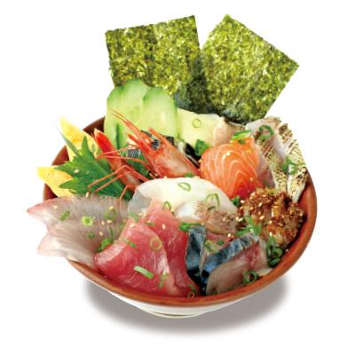ぎっしり海鮮丼 味噌汁付き ¥1,000