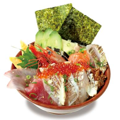 特上海鮮丼 炙りのどぐろ刺し・いくら・味噌汁付き ¥1,500