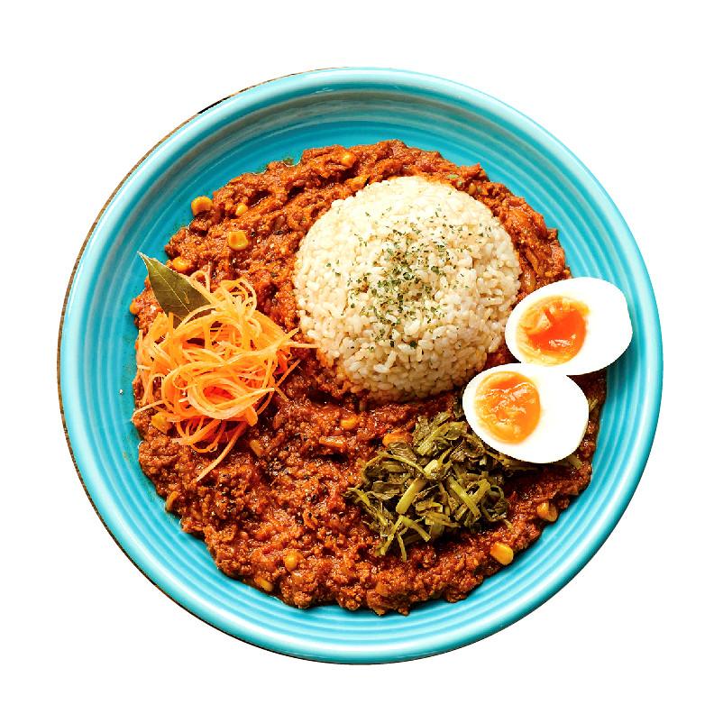 鶏と高野豆腐のドライカレー【アチャールあり】¥980/【アチャールなし】¥880