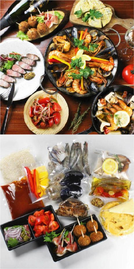 お家でスパニッシュ お食事セット 1人前¥1,500