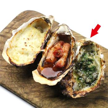 焼き牡蠣 ブルギニヨンバター(1個)¥200